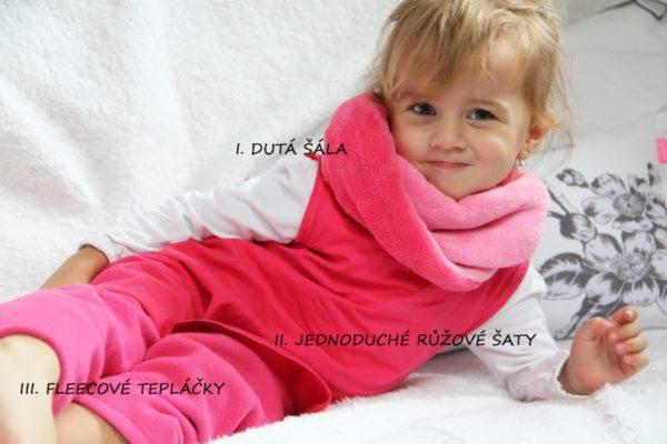 Terulčin růžový outfit Terulčin růžový outfit. I. Dutá šála ... 1a41606c4e