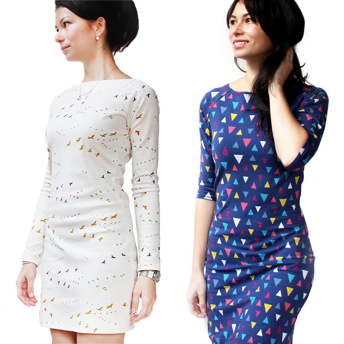 8a394bb2b4d Střih na dámské šaty JACKELINE (velikosti 32 - 50) - Prošikulky.cz