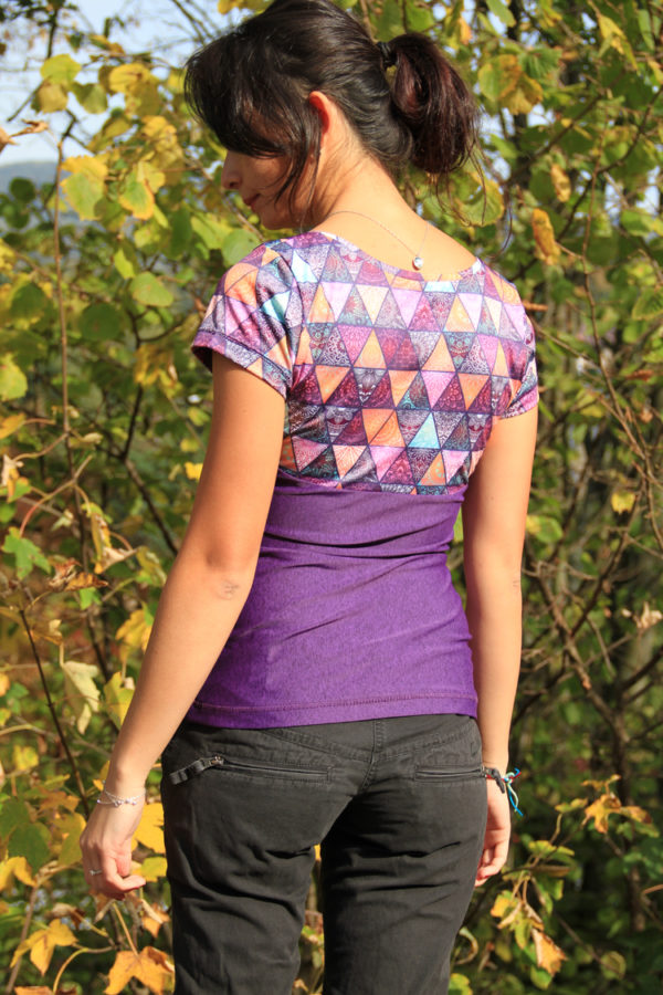 Návod jak ušít sportovní tričko - Střih na dámské sportovní tričko