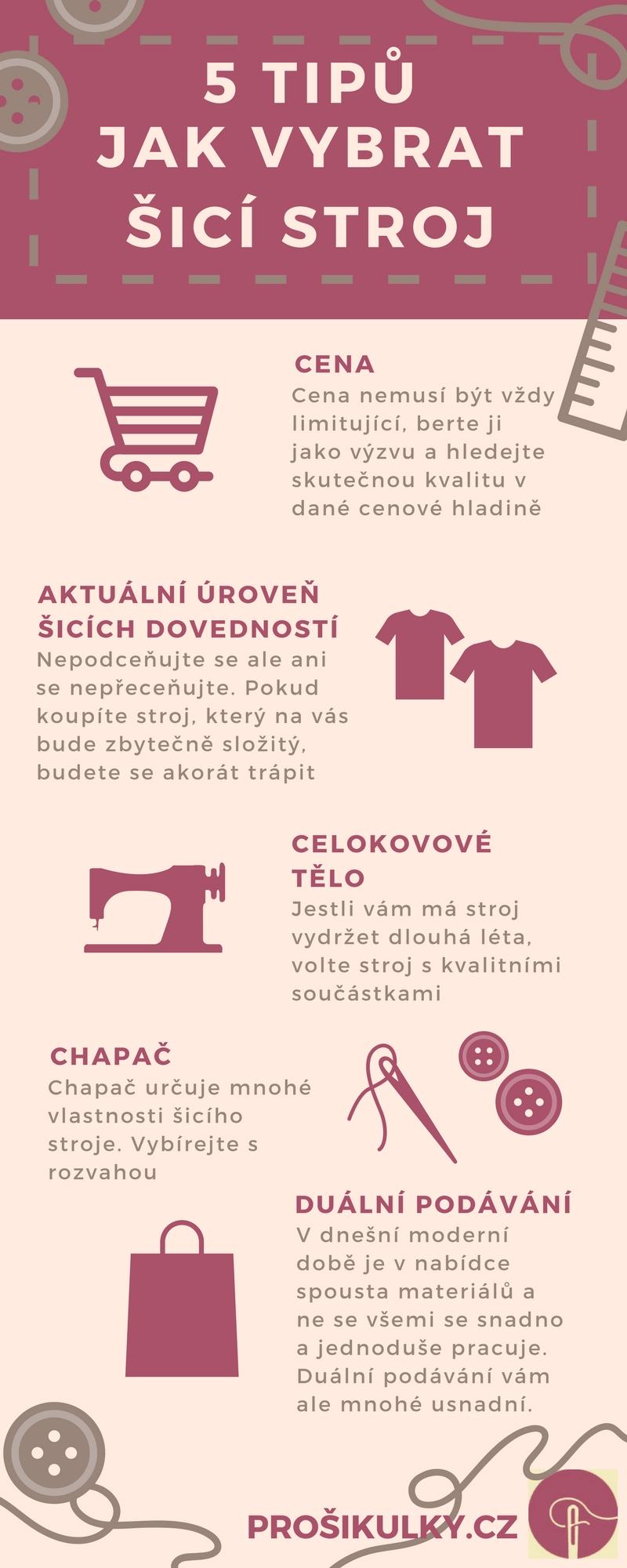Jak vybrat šicí stroj