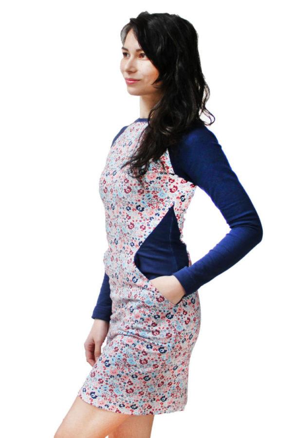 Střih na šaty (dámské, opticky zeštíhlující)
