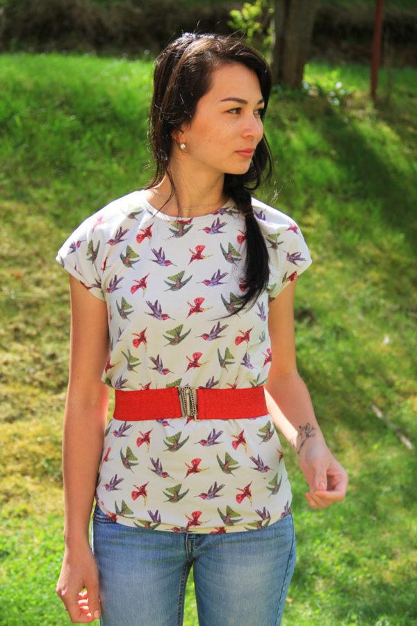 Střih na dámské tričko s přinechanými rukávy EASY (vel. 32 - 62)