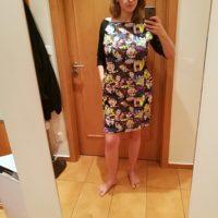 Střih na dámské šaty Silueta - Hana B., velikost šatů 44