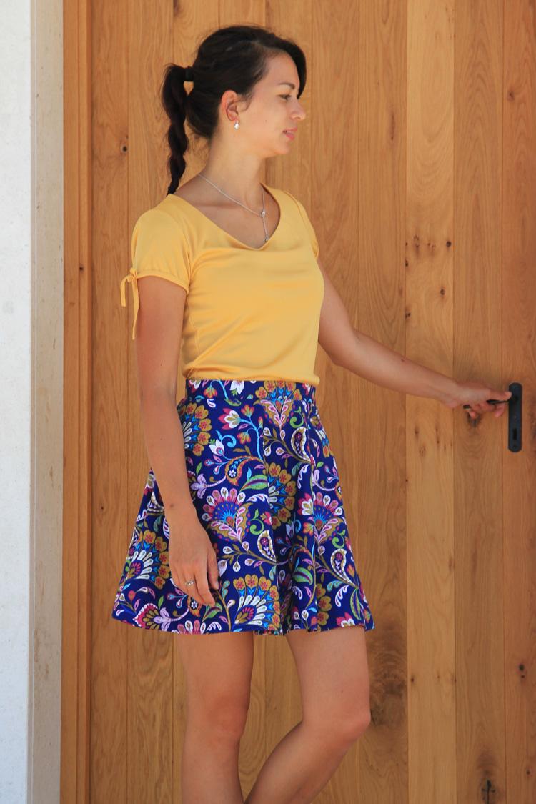 Střih na dámskou sukni RACHEL (velikost 32 - 46) - Prošikulky.cz 71a0f1407d5