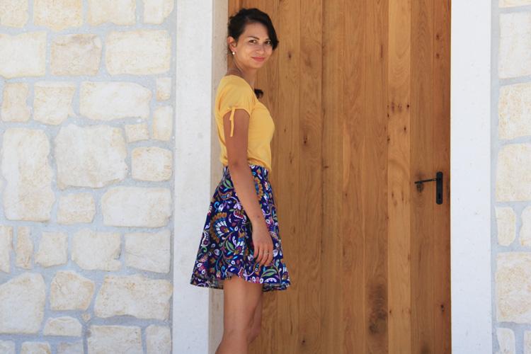 Střih na dámskou sukni + návod na šití