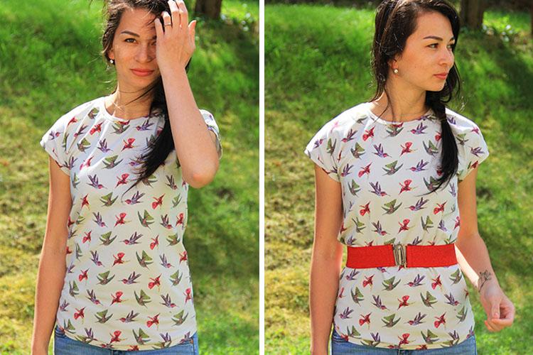 Střih na dámské tričko s přinechanými rukávy (velikost 32-62 ... 9d0a176664