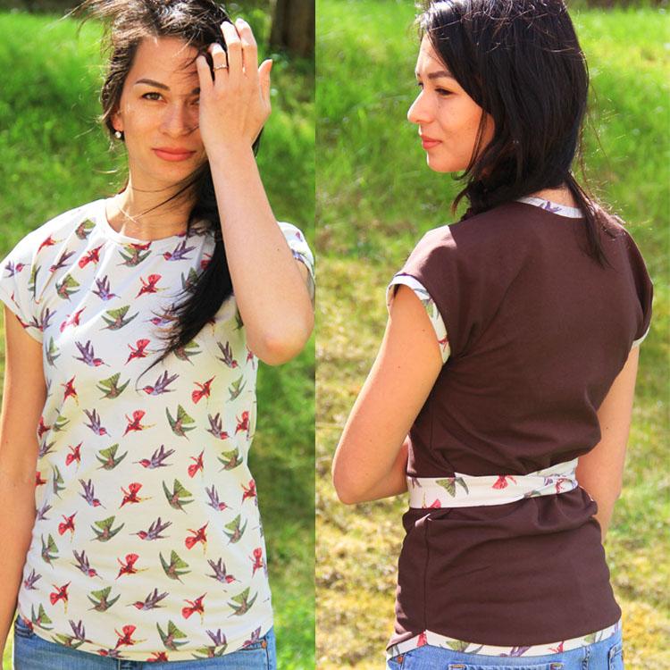 Střih na dámské tričko s přinechanými rukávy EASY (velikosti 32 - 62)