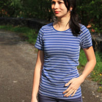 Střih na dámské tričko s krátkým rukávem