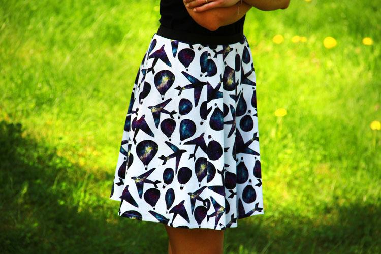 Střih na dámskou sukni zdarma