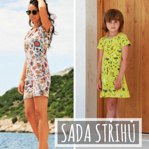 Sada střihů - jednoduché dámské a dětské šaty