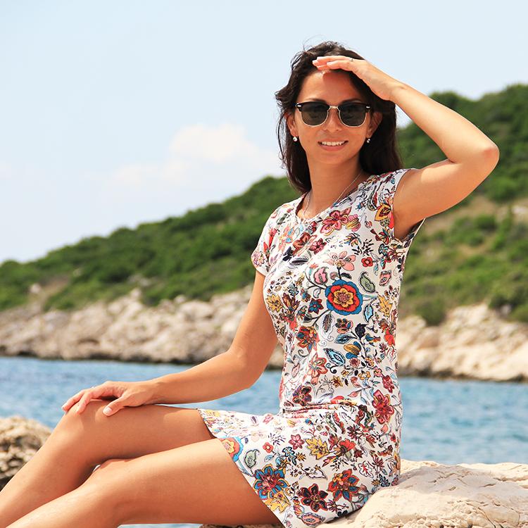 Střih na dámské (basic) šaty s krátkým rukávem - 5 velikostí 17ff9c91d7c