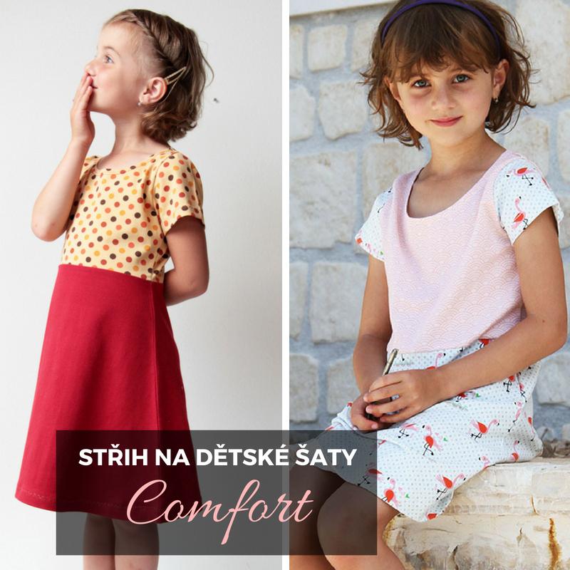 dd08f7510e2 Jednoduchý střih na dětské šaty (velikosti 80 - 164) - Prošikulky.cz