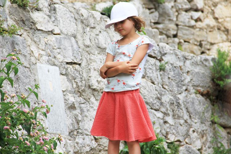 Střih na dětskou sukni ZDARMA - super točivá sukně