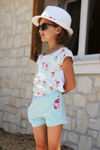 Jednoduchý střih na dětské tričko s přinechanými rukávy