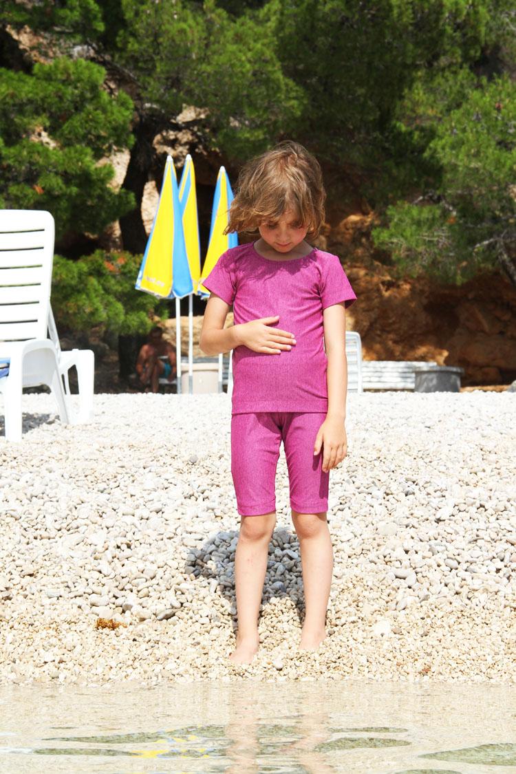 Střih na dětskou soupravu oblečení s UV faktorem