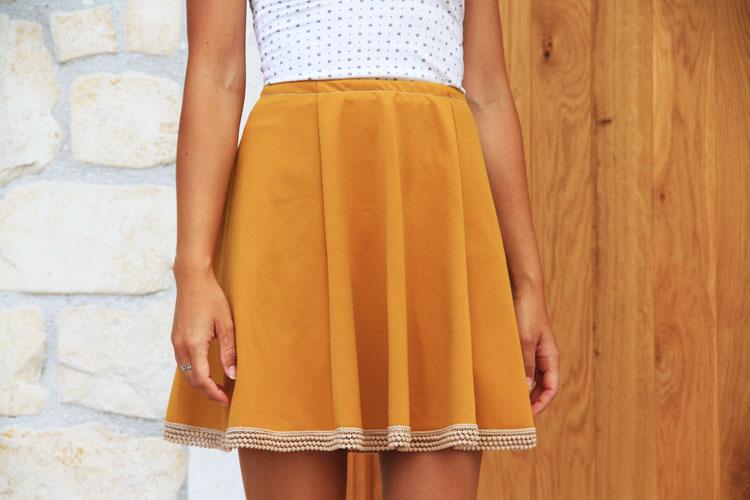 Střih na dámskou sukni SWING zdarma