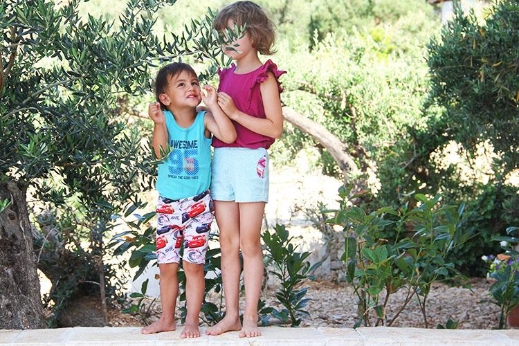 Střih na dětské šortky nebo bermudy - návod na šití - jak ušít kraťasy