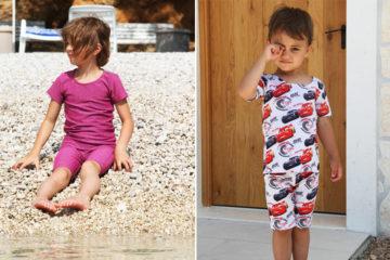 Dětská souprava - střih na dětské tričko a dětské šortky nebo bermudy