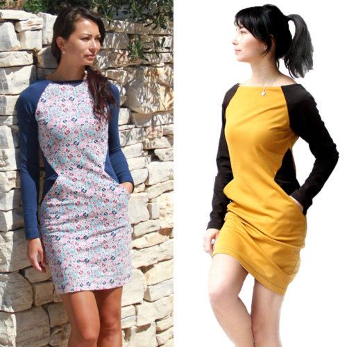 Střih na dámské opticky zeštíhlující šaty