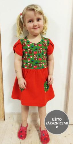 Střih na dětské šaty Flóra