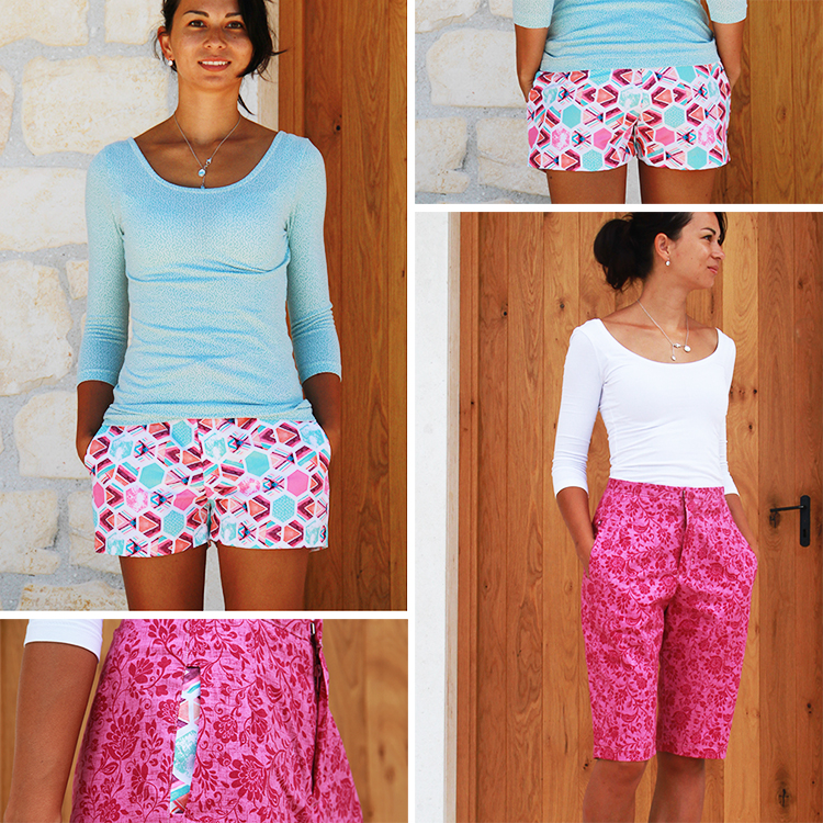 Střih na dámské šortky (bermudy)