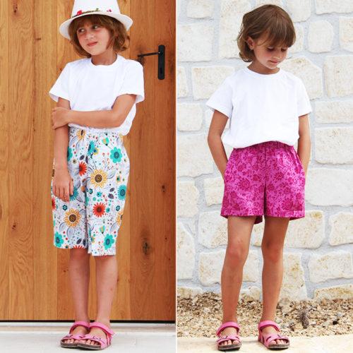 Střih na dětské šortky z tkaniny + návod na šití