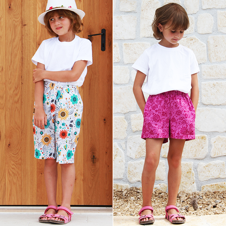 Střih na dětské šortky (bermudy)