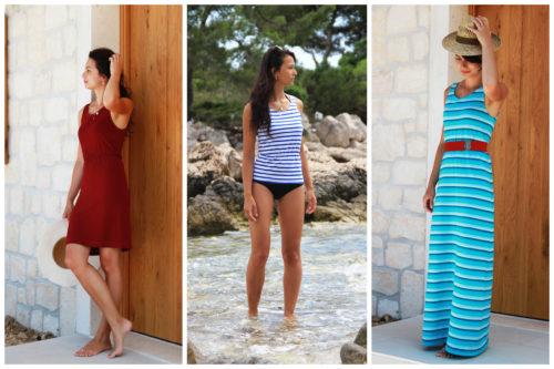 Střih 3v1 na dámské tílko nebo šaty v délce midi a maxi