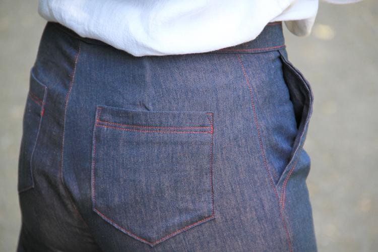 Návod jak ušít rifle (džíny) + střih na dámské kalhoty