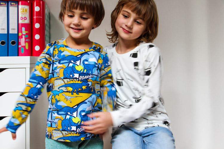Střih na dětské tričko SLIM