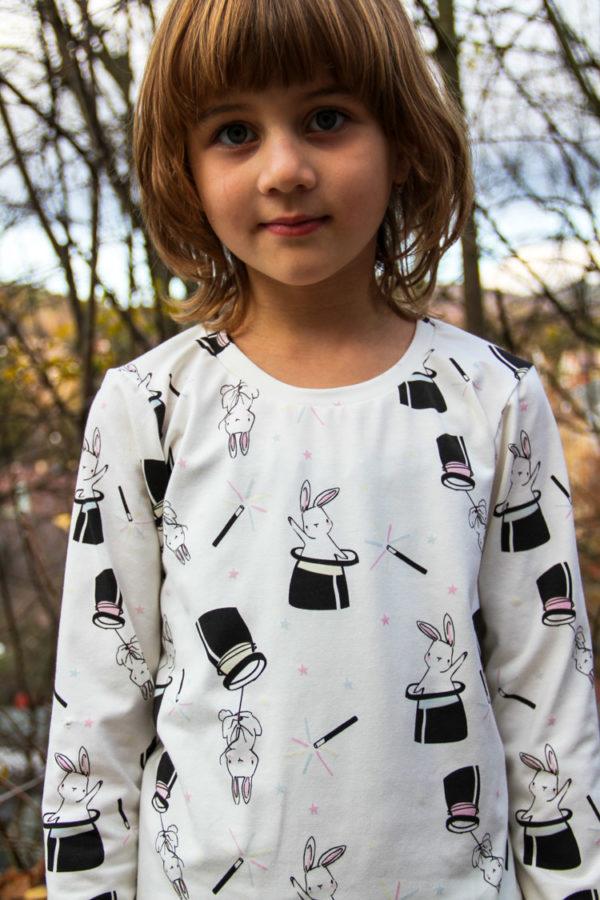 Střih na dětské tričko