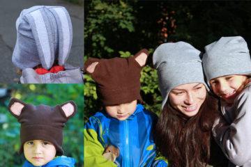 Střih na čepici přes uši WARM (dětské a dámské velikosti) + návod jak ušít  čepici krok za krokem 7b62a90f27
