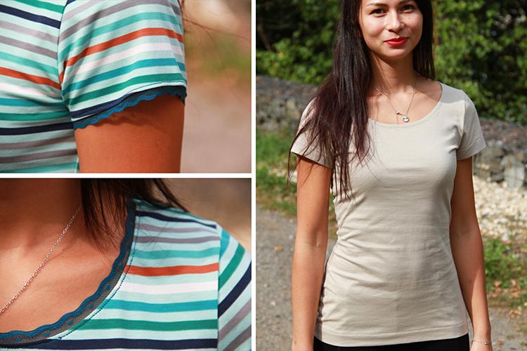 Střih na tričko - dámské, přiléhavé - do města nebo na sport