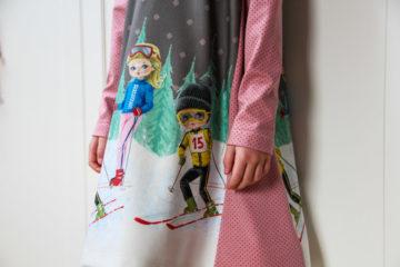 Střih na jednoduché dětské šaty WINTER JOY + návod jak ušít šaty za pár  minut 2fac7e3ba1