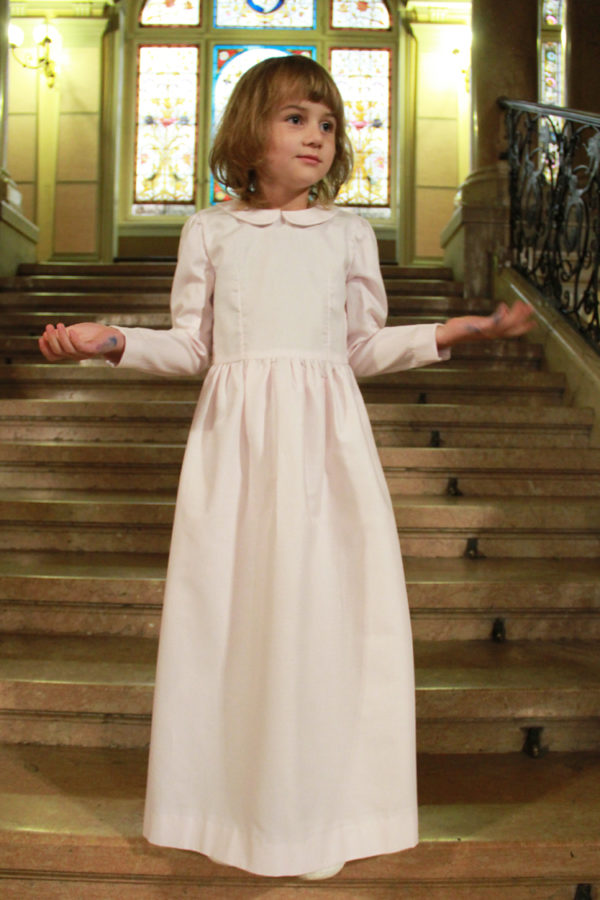Střih na dětské slavnostní šaty