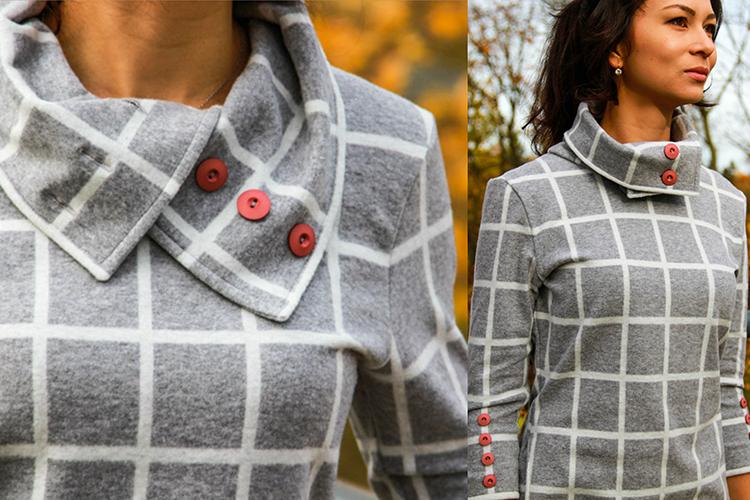 72e9a4578db Střih na dámské podzimní šaty   šaty