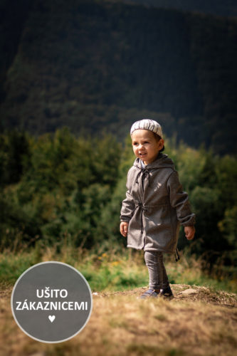 Střih na dětskou bundu - ušila Klára Š.