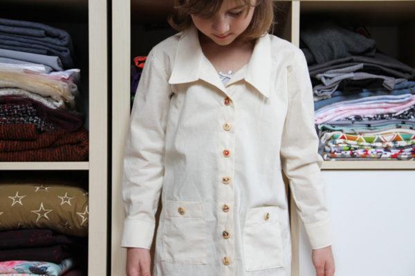Návod jak ušít košili krok za krokem + střih na dětskou malířskou košili / halenu / zástěru (malířský plášť)