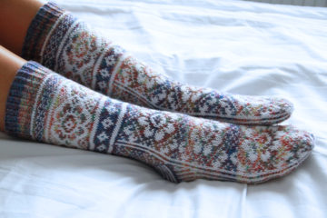 Návod na dámské pletené ponožky zdarma