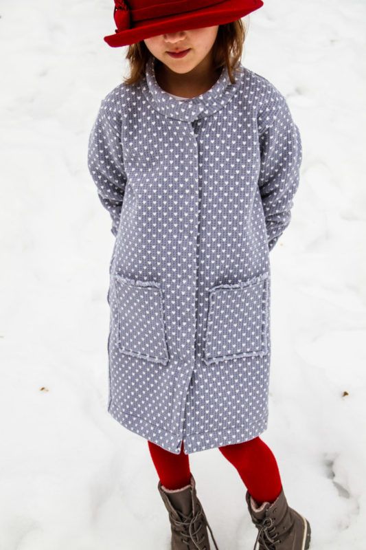Střih na dětskou košili / kabátek - kreativní šití - jak ušít netradiční nakládané kapsy