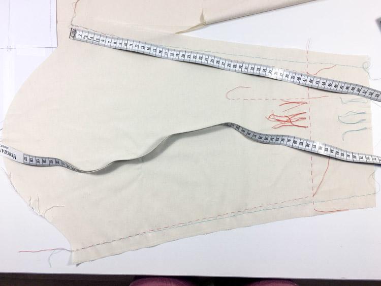 Jak se šije zkušební model / šití / konstrukce střihu