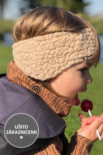 Střih na dětskou čepici přes uši - úprava na čelenku