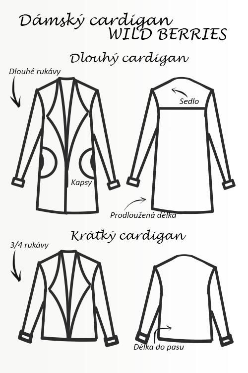 Střih na dámský cardigan