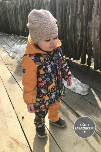 Střih na dětskou čepici přes uši - ušila Tereza M.