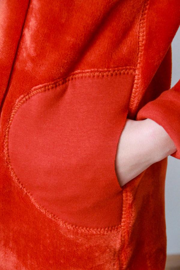 Střih na dámský cardigan (oboustranný)