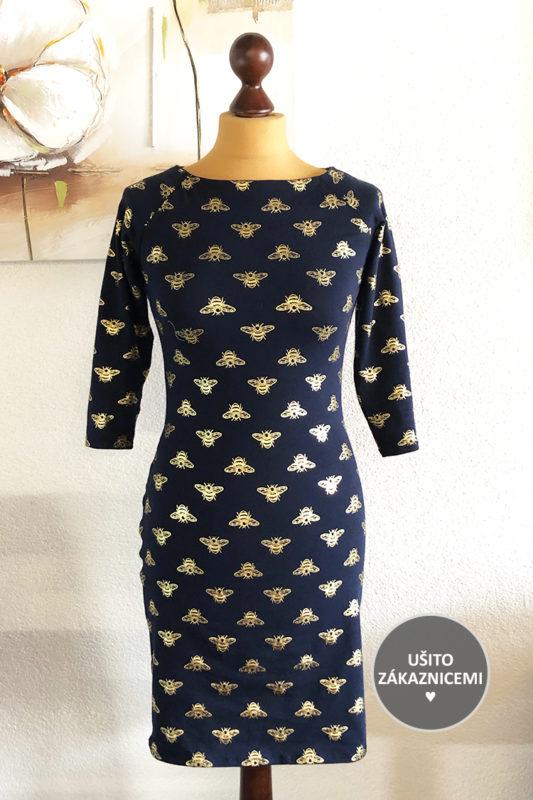 Střih na dámské šaty