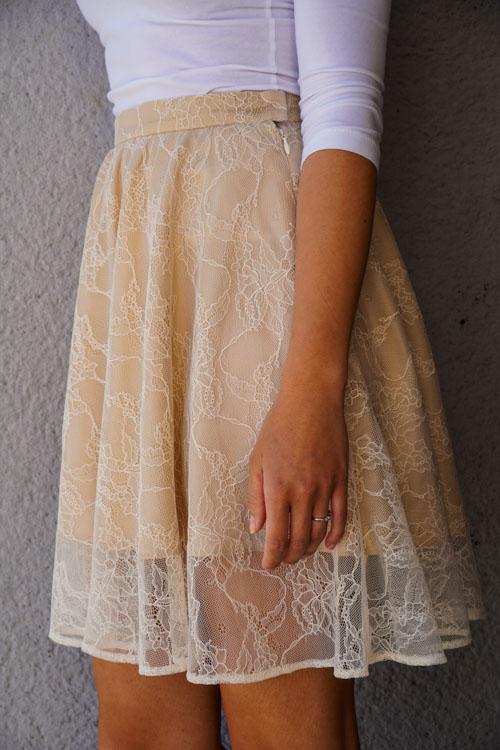 Návod jak ušít krajkovou sukni s podšívkou+ střih