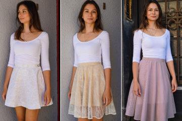 Návod jak ušít sukni (různé druhy materiálů i způsoby šití)+ střih