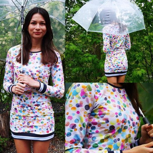 Střih na dámské šaty RAINY DAY