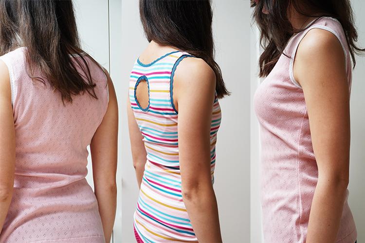 Střih na dámské tílko - velikosti 32-60 (detailní foto návod šití - jak ušít tílko krok za krokem)